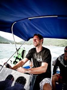 Random marine researcher, enjoying a boat